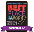 San Diego Bussiness Journal Best Place to Work 2021 Winner